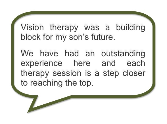 Advanced Vision Therapy Center Success Story: VT Building Block