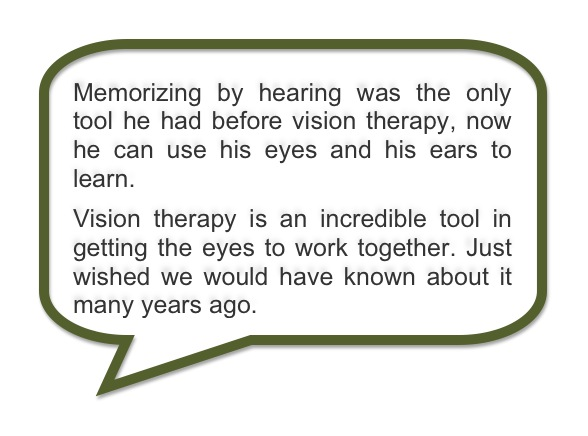 Advanced Vision Therapy Center Success Story: Paul